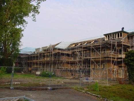 Renovatie Keningstate Franeker tijdens de verbouw